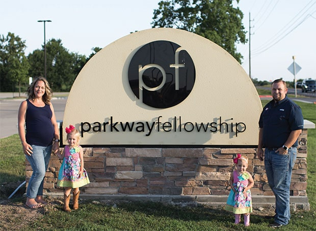 Parkway Fellowship sign with Melrose Family